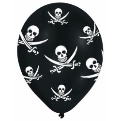 Pirate Skull & Cross Bones Jolly Rodger Party Balloons