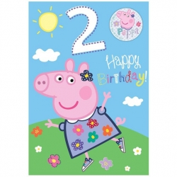 Peppa Pig  Birthday Age 2 With Badge