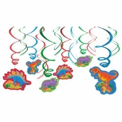 Dinosaur Party Party Swirls Decorations