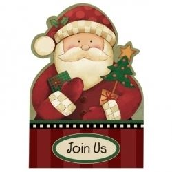 Cozy Santa Party Invitations