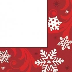 Elegant Entertaining Red Christmas Party Napkins