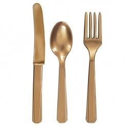 Gold Cutlery Party Set.