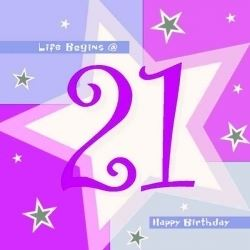 21st  Birthday Pink Shimmer Party Napkins
