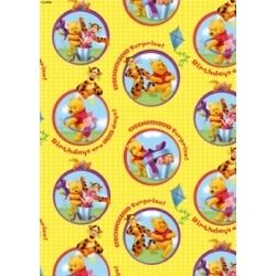 Winnie The Pooh Gift Wrap And Tags