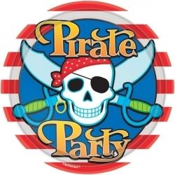 Skull & Cross Bones Pirate Party Plates