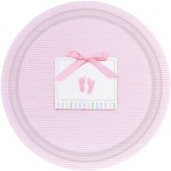 Baby Soft Pink Baby Plates