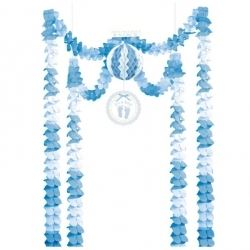 Baby Soft Blue Baby Party Decoration Kit