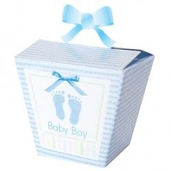 Baby Soft Blue Baby Party Favour Boxes