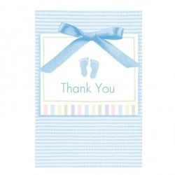 Baby Soft Blue Baby Party Thank You