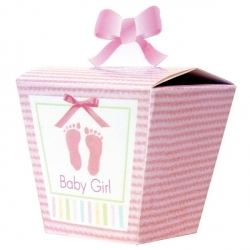 Baby Soft Pink Baby Party Favour Boxes