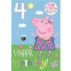 Peppa Pig Birthday Card Age 4 With Badge
