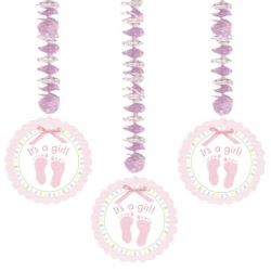 Baby Soft Pink Dangling Party Decorations