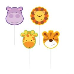 Jungle Friends Party Pick Candles