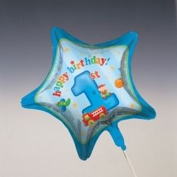 1st Birthday Fun To Be One Boy Party Foil Balloons
