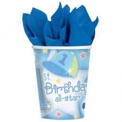 1st Birthday All Star Baby Boy Party Cups
