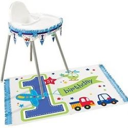 1st Birthday Party Boy High Chair Decorating Kit