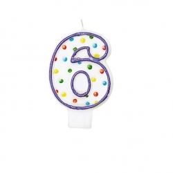 Birthday Cake Candle Number Age 6