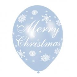 Merry Christmas Snowflake Party Balloons