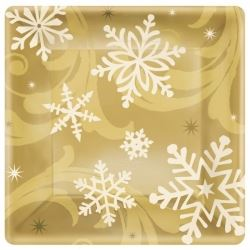 Elegant Entertaining Gold Christmas Party Lunch Plates