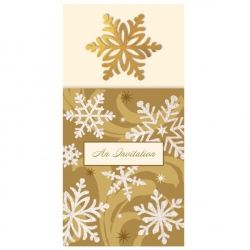 Elegant  Entertaining Gold Christmas Party Invitations
