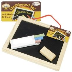 Black Board Chalk and Eraser Set