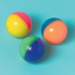 Party Favour Bouncy Balls Two Tone Neon