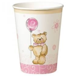 Teddy Bear Pink Party Cup
