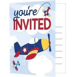 Aeroplane Red Arrow Party Invitations