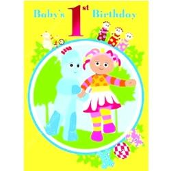 In The Night Garden Baby's First Birthday Card