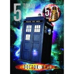 Doctor Who Birthday Card Age 5 With Badge