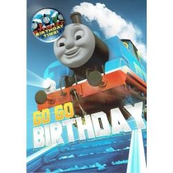 Thomas The Tank Birthday Card With Badge