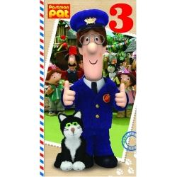 Postman Pat Party Birthday Card Age 3