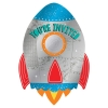Blast Off Birthday Party Invitations With Stickers