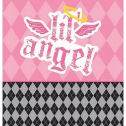 1st Birthday Girl Lil Angel Party Tablecovers