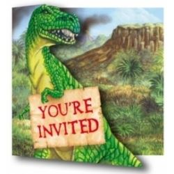Diggin Dinos Party  Invitations
