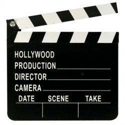 Lights Camera Action Movie Party Movie Clapper Board