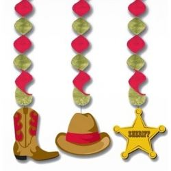 Western cowboy party door decoration rodeo cowboy partyware