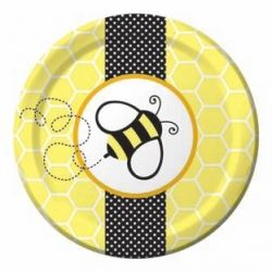Baby Bee Buzz Party Lunch Plates