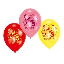 Disney Minnie Mouse Party Age 5 Balloons
