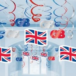 Great Britain Hanging Swirls Kit Decoration