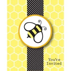 Baby Bee Party Invitations