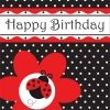 Little Ladybird Happy Birthday Party Napkins