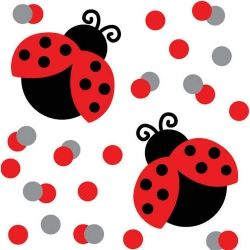 Little Ladybird Party Table Confetti