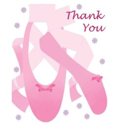 Tutu Much Fun Ballerina Party Thank You Cards