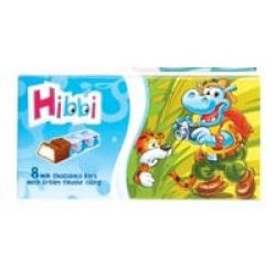 Hibbi The Hippo 8 Milk Chocolate Bars