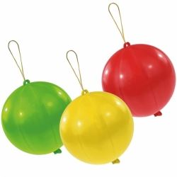 Party Favour Punch Balloons Assorted Colours