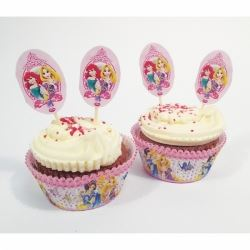 Disney Princess Cupcake Cases and Toppers