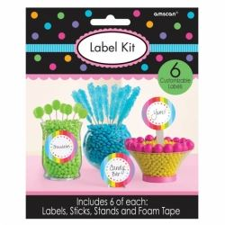 Candy Buffet Scalloped Labels Multi Colour Kit