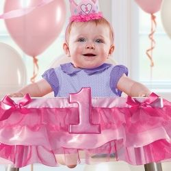 1st Birthday Party Girl High Chair Decorating Kit