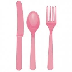 Pink Cutlery Party Set